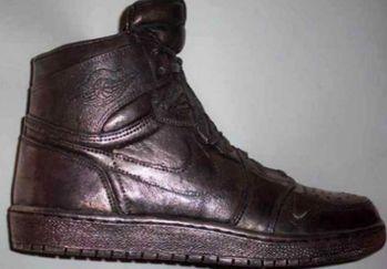 серебряные Air Jordan Silver Shoe $60000
