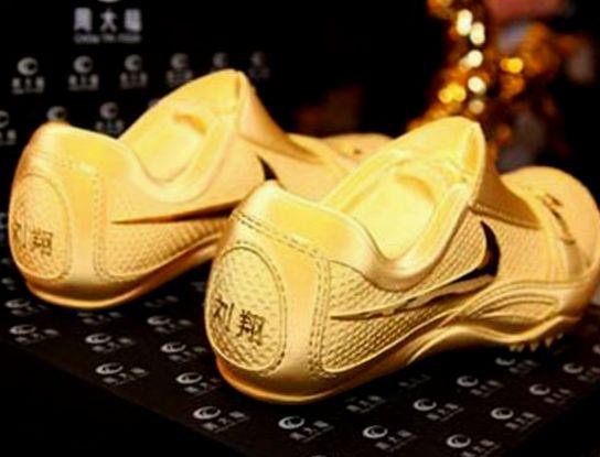 золотые туфли для бега $24000